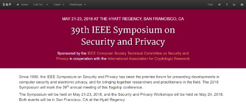 39th IEEE Symposium on Security & Privacy