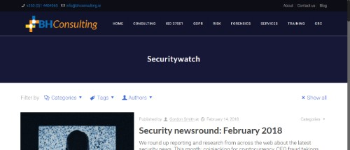 BH Consulting IT Security Watch