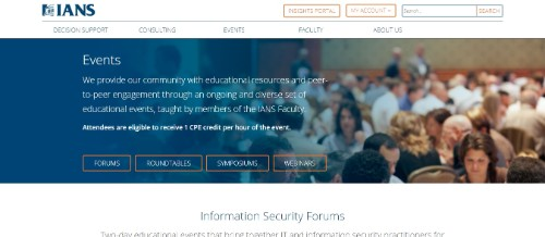 IANS Information Security Forums