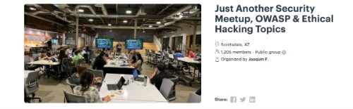 Just Another Security Meetup, OWASP & Ethical Hacking Topics