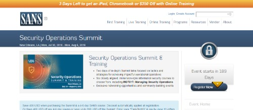 Security Operations Summit & Training