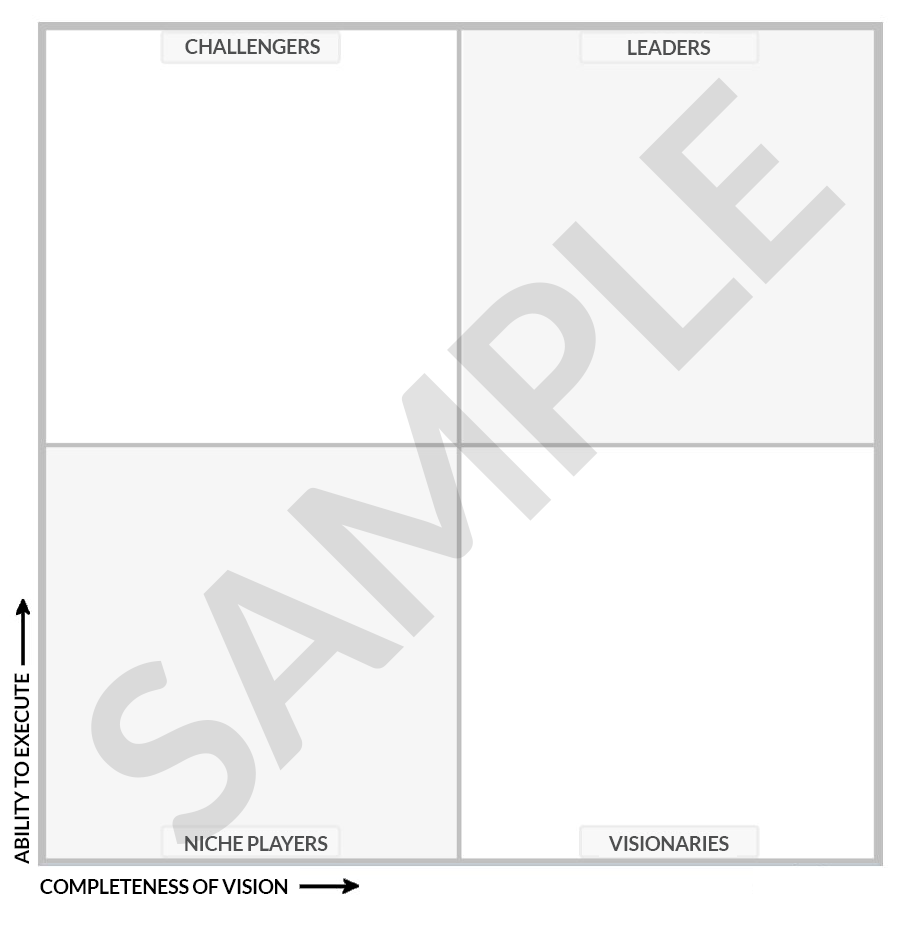 Blank Gartner Magic Quadrant