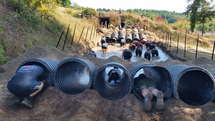 Tunnels and Barbed Wire at Rugged Maniac