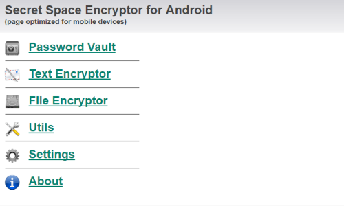 Secure Space Encryptor App